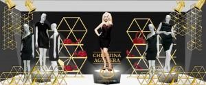 Escaparate Christina Aguilera C&A Mexico merchanlab